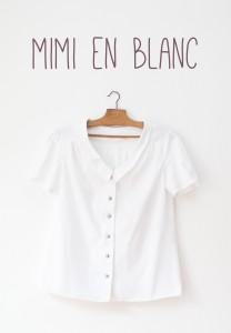 Maison et travaux n°15 – Blouse Mimi en blanc