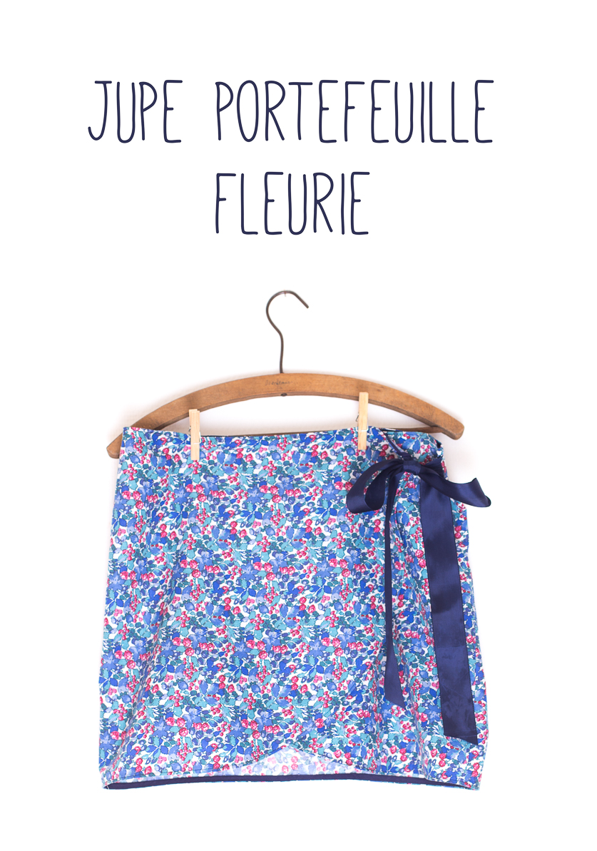 10700e8d98cfe6 Maison et travaux n°21 – La jupe portefeuille fleurie | La muse au ...