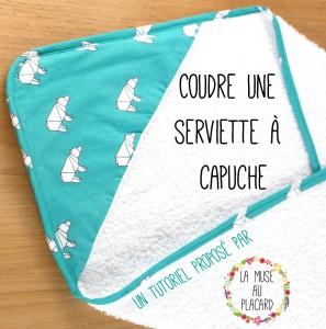 Tutoriel – Coudre une serviette à capuche