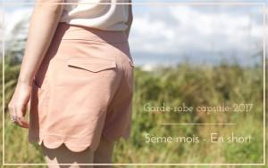Je couds ma garde-robe capsule 2017 – 5ème mois : en short