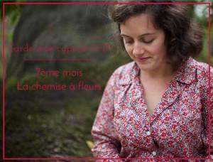 Je couds ma garde-robe capsule 2017 – 8ème mois : la chemise à fleurs