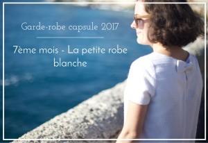 Je couds ma garde-robe capsule 2017 – 7ème mois : la petite robe blanche