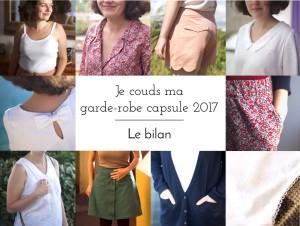Je couds ma garde-robe capsule 2017 – Le bilan