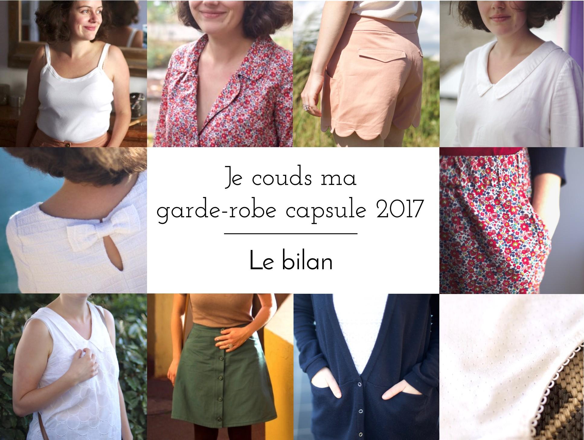 Je couds ma garde robe capsule 2017 - Le bilan