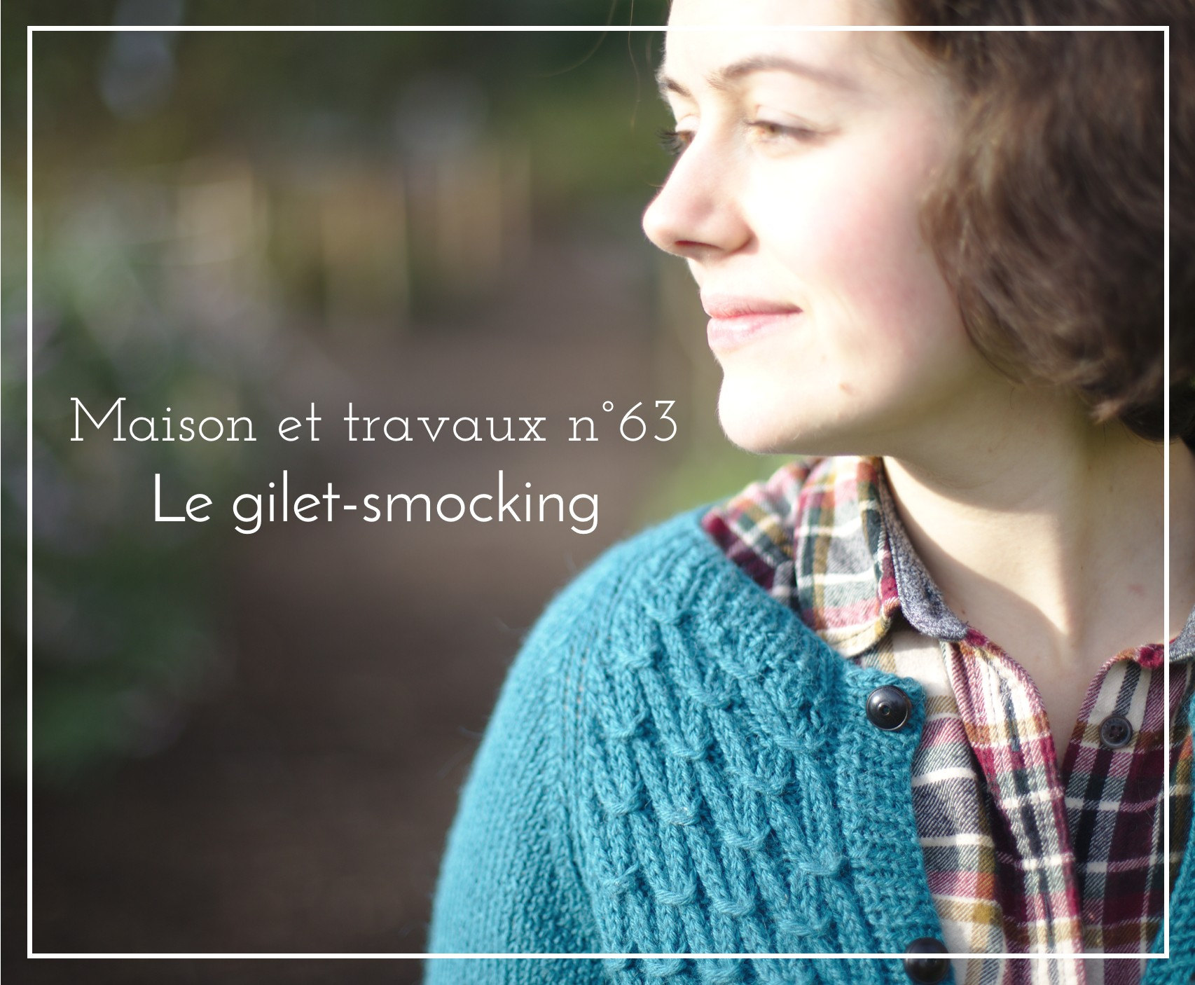 La muse au placard - classic smocking cardigan - Petite knit