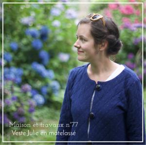 Maison et travaux n°77 – Veste Julie en matelassé
