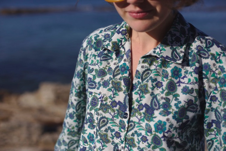 Alex shirt - Sew Over it - Coton motifs cachemire 2