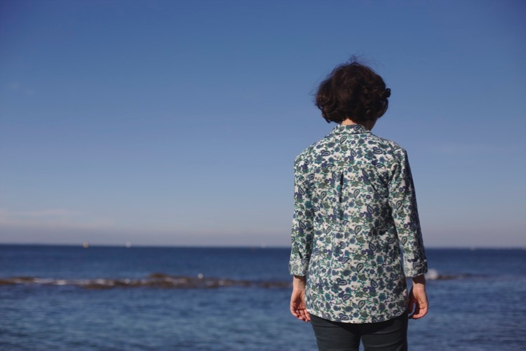 Alex shirt - Sew Over it - Coton motifs cachemire 3