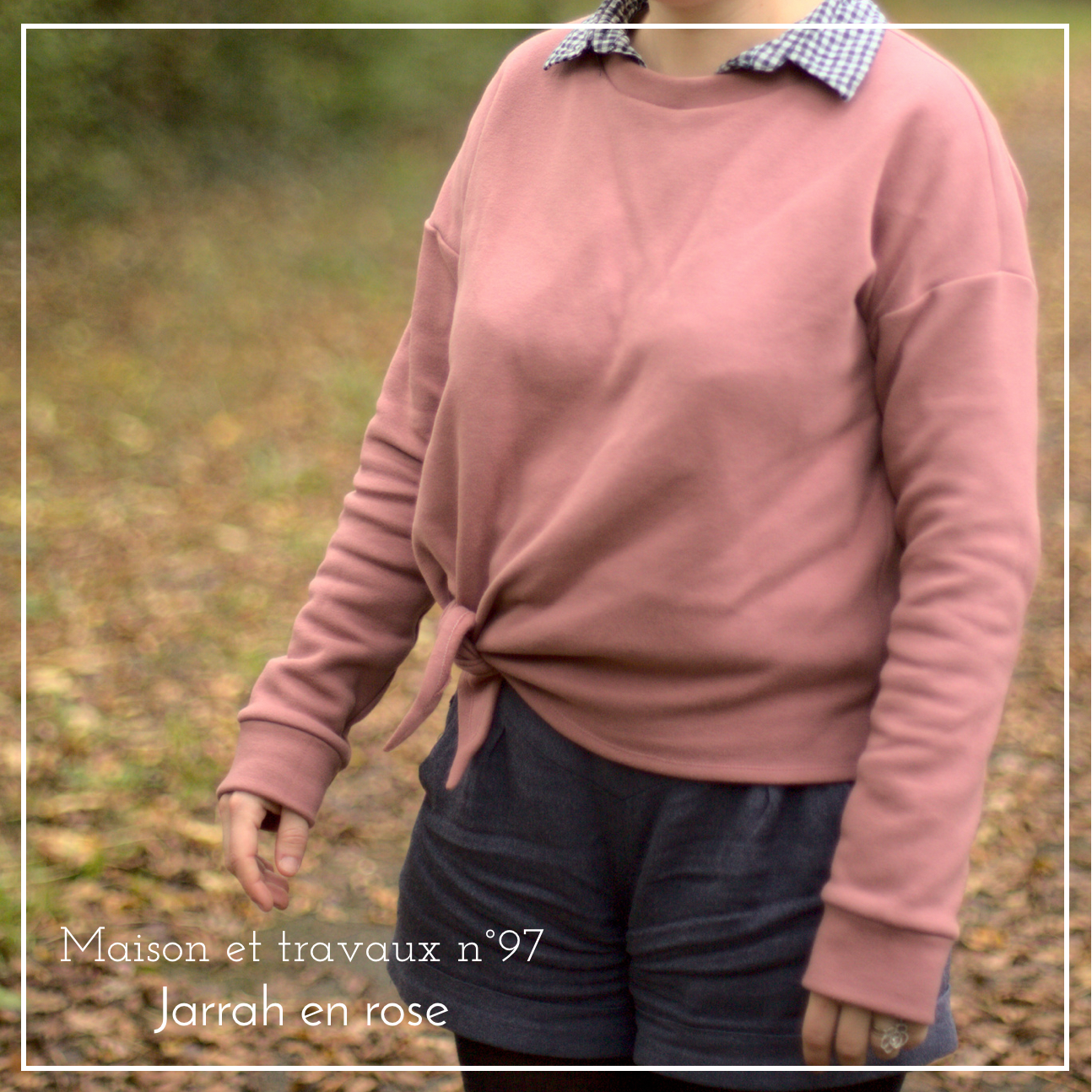 Maison et travaux - Jarrah Sweater - Megan Nielsen - The sweet mercerie